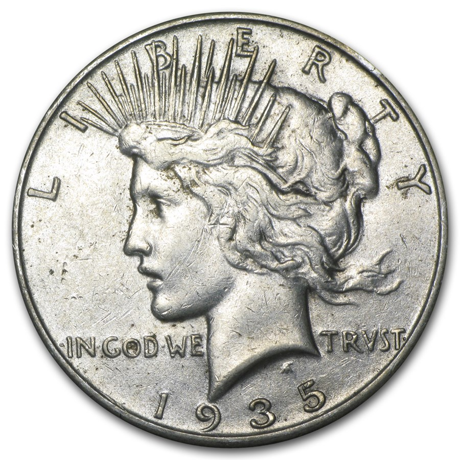 1935-S Peace Dollar XF