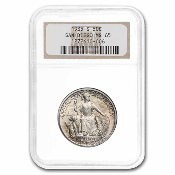 1935-S San Diego Half Dollar MS-65 NGC