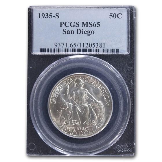 1935-S San Diego Half Dollar MS-65 PCGS
