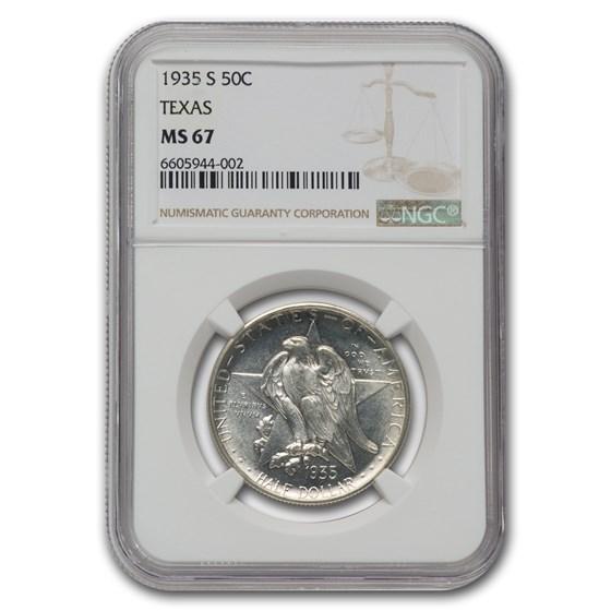 1935-S Texas Centennial Commemorative Half Dollar MS-67 NGC