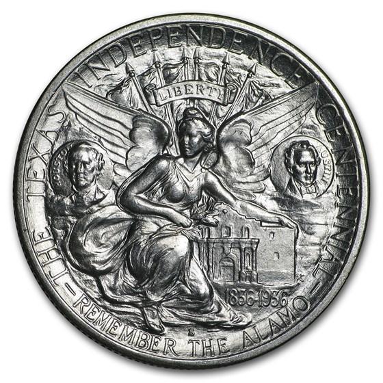 1935-S Texas Independence Centennial Half BU