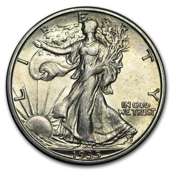 1935-S Walking Liberty Half Dollar AU-58