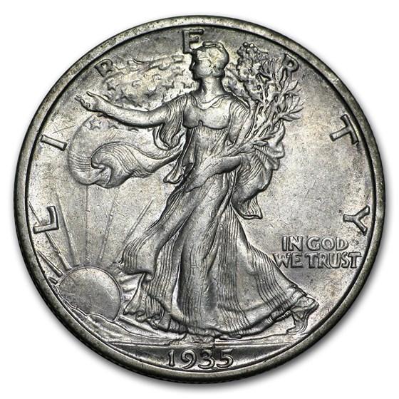 1935-S Walking Liberty Half Dollar XF