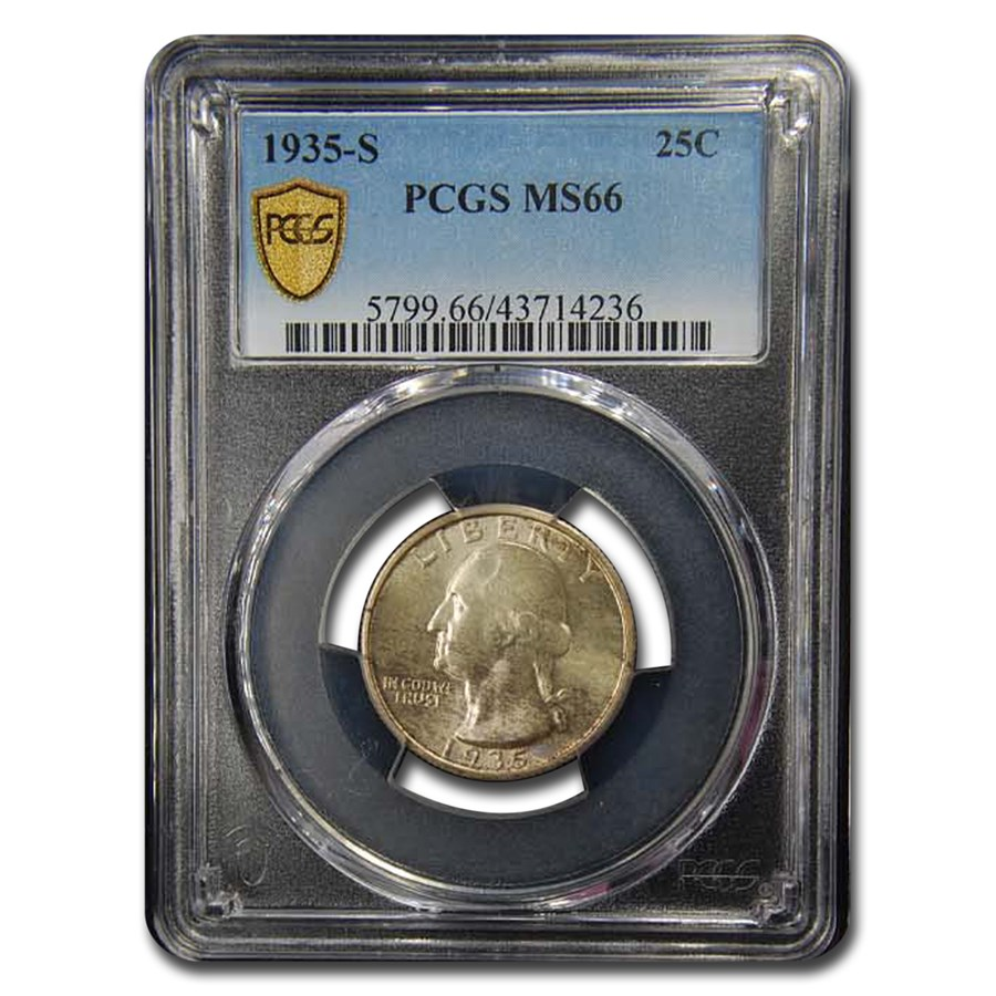 1935-S Washington Quarter MS-66 PCGS