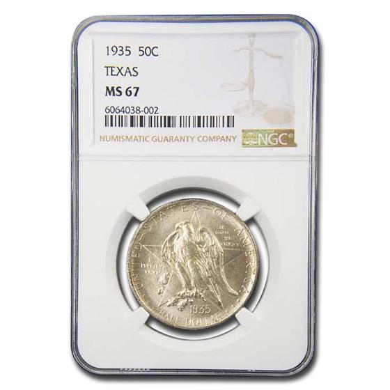 1935 Texas Half Dollar Commem MS-67 NGC