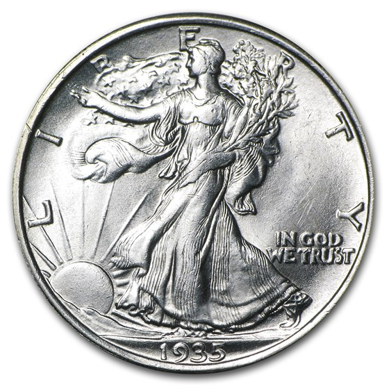 1935 Walking Liberty Half Dollar BU