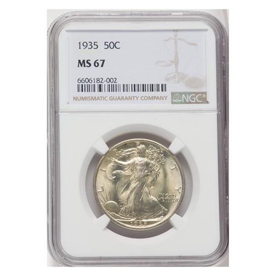 1935 Walking Liberty Half Dollar MS-67 NGC