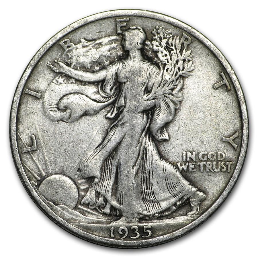 1935 Walking Liberty Half Dollar VG/VF