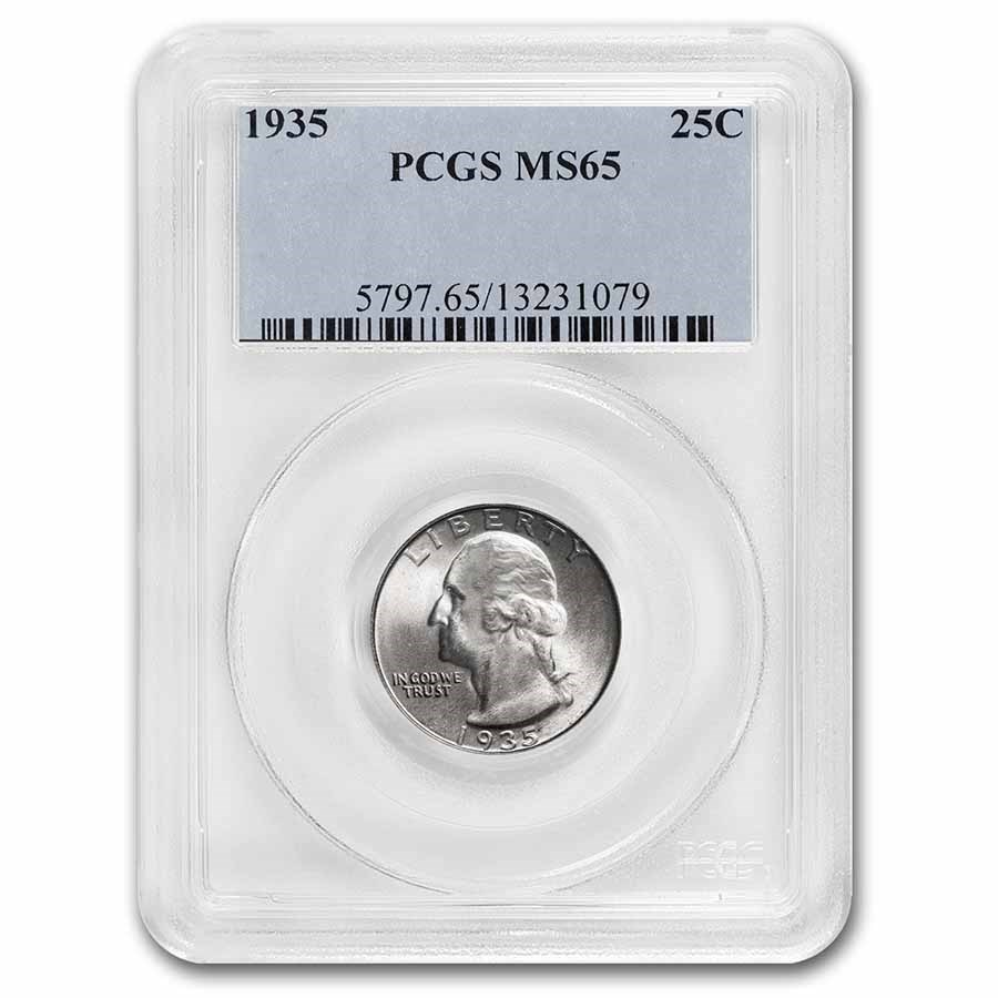 1935 Washington Quarter MS-65 PCGS
