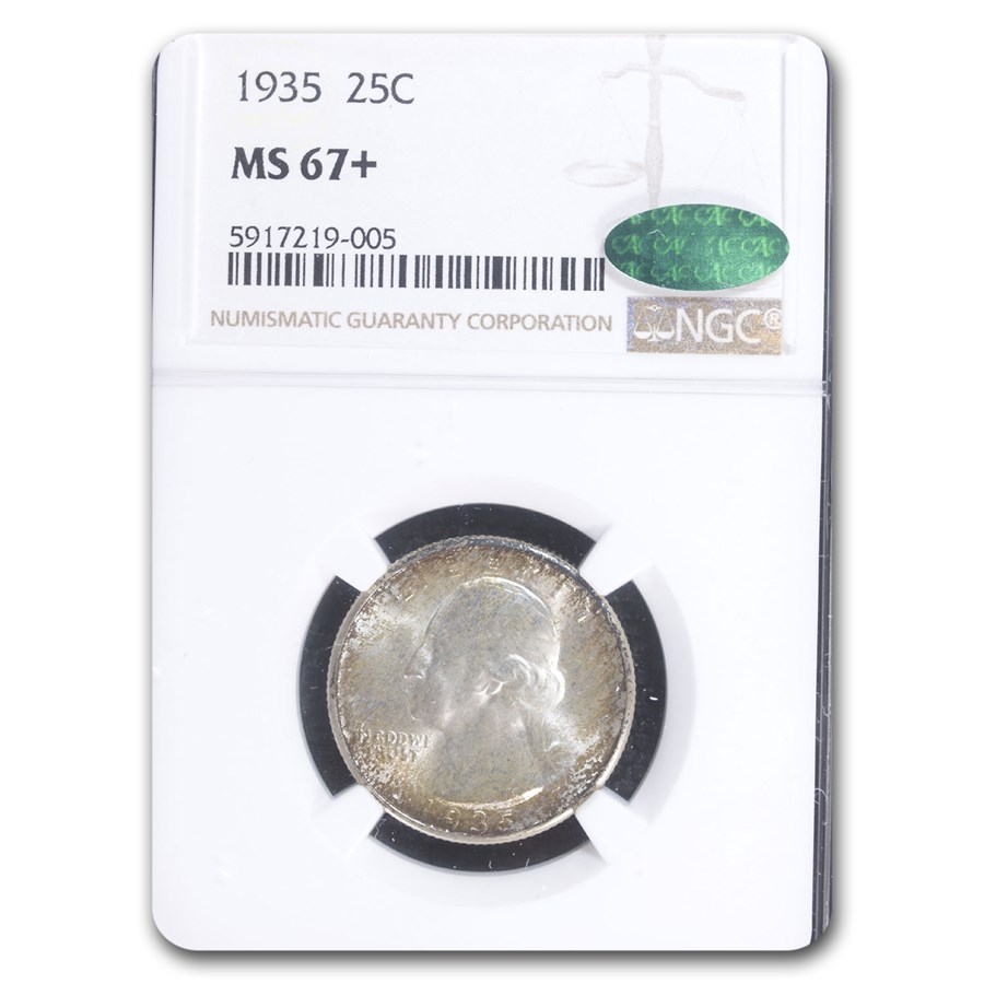 1935 Washington Quarter MS-67+ NGC CAC