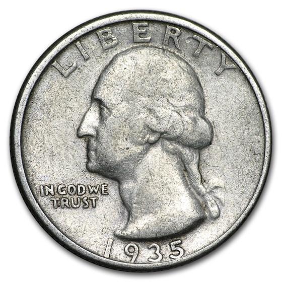 1935 Washington Quarter VF
