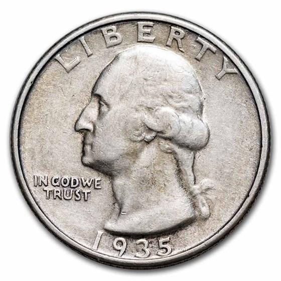 1935 Washington Quarter XF