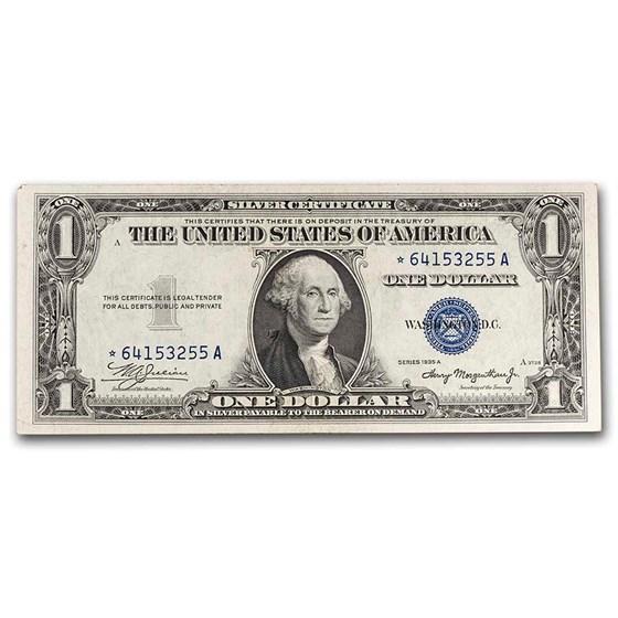1935s* $1.00 Silver Certificates AU (Star Note)