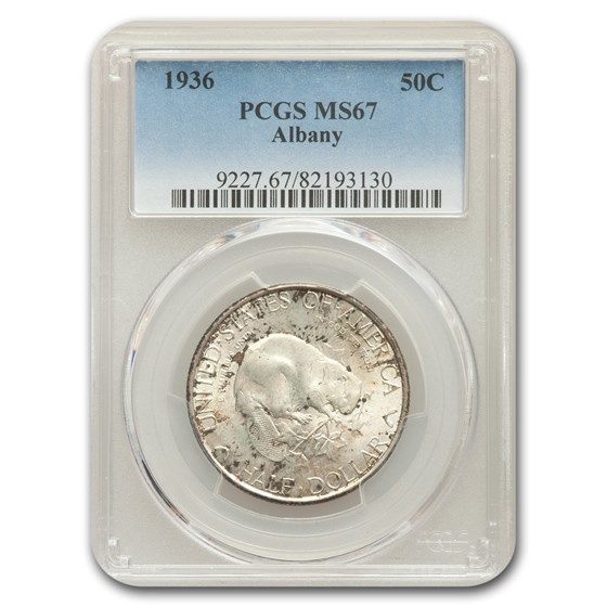 1936 Albany Half Dollar MS-67 PCGS