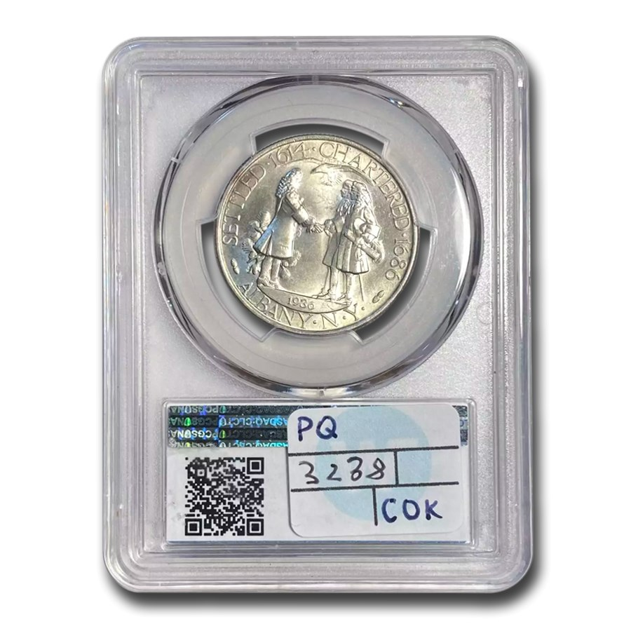 1936 Albany, New York Charter Half Dollar MS-66 PCGS