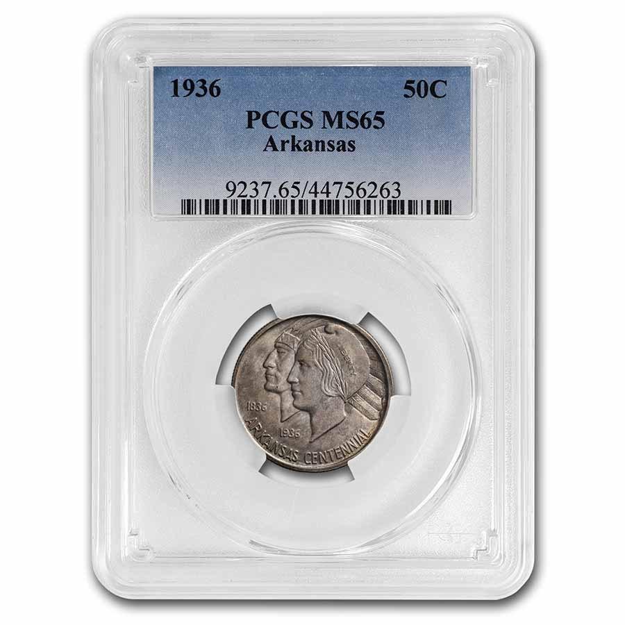 1936 Arkansas Centennial Half Dollar MS-65 PCGS