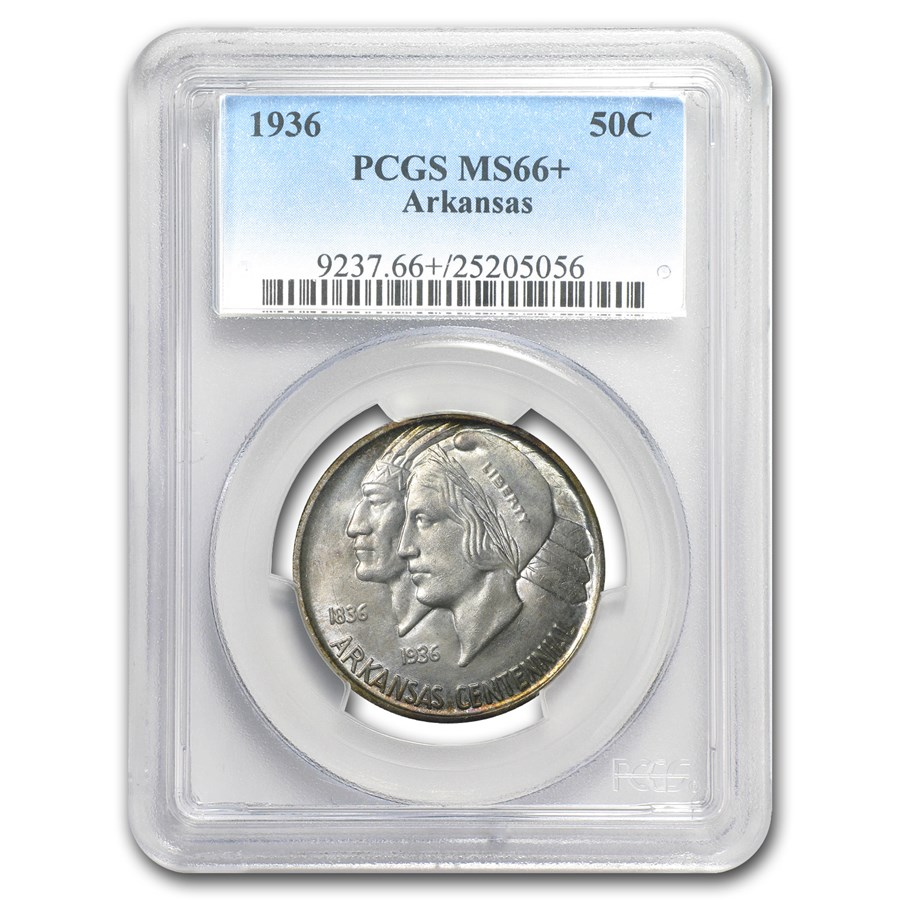 1936 Arkansas Centennial Half Dollar MS-66+ PCGS