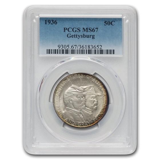 1936 Battle of Gettysburg Half Dollar Commem MS-67 PCGS