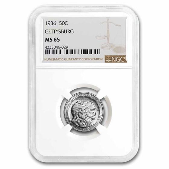 1936 Battle of Gettysburg Half Dollar MS-65 NGC