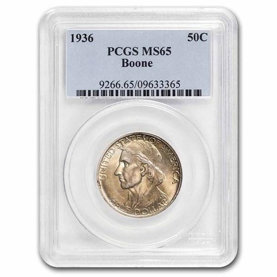 1936 Boone Half Dollar MS-65 PCGS