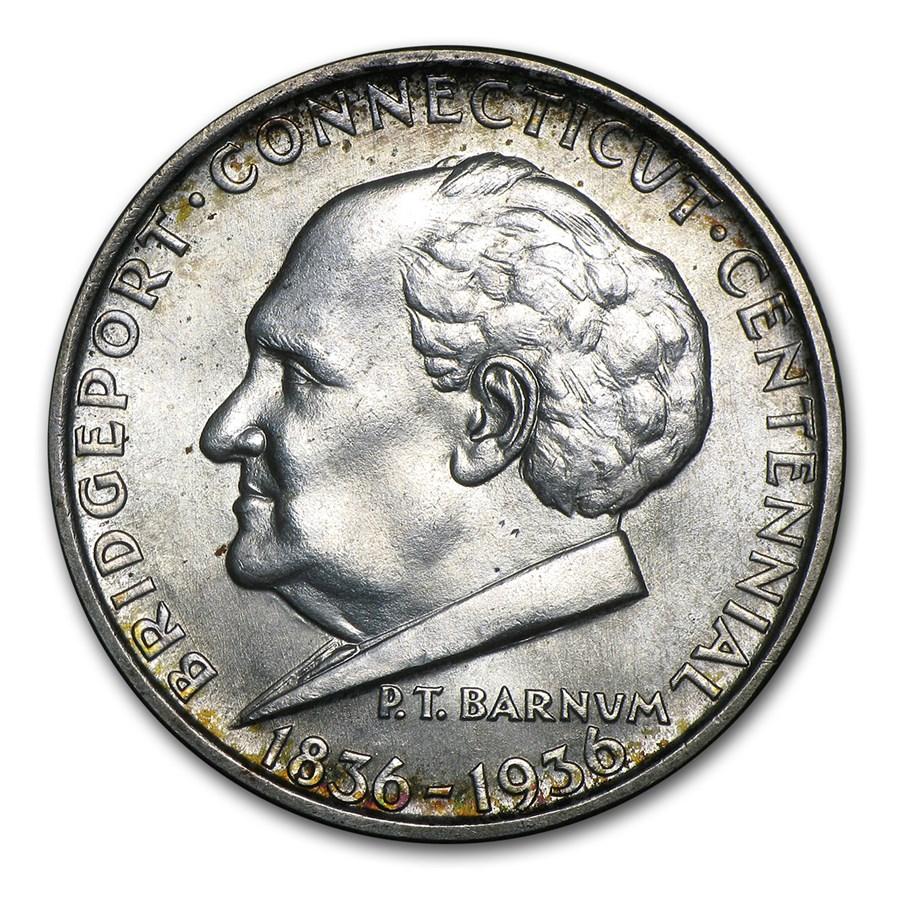 1936 Bridgeport, Connecticut Centennial Half Dollar BU