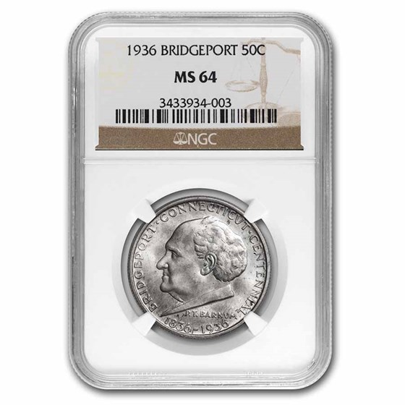 1936 Bridgeport, Connecticut Half Dollar MS-64 NGC