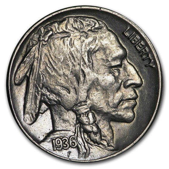 1936 Buffalo Nickel AU