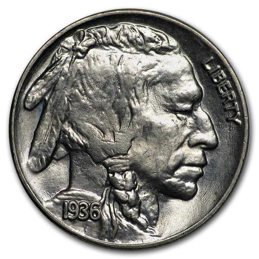 1936 Buffalo Nickel BU