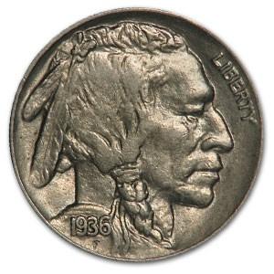 1936 Buffalo Nickel Choice AU