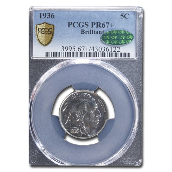 1936 Buffalo Nickel MS-67+ PCGS CAC