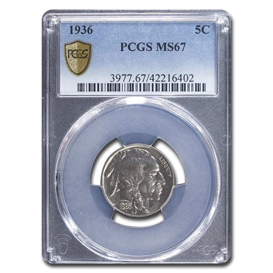 1936 Buffalo Nickel MS-67 PCGS