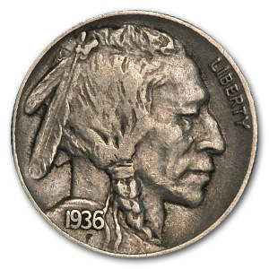 1936 Buffalo Nickel XF