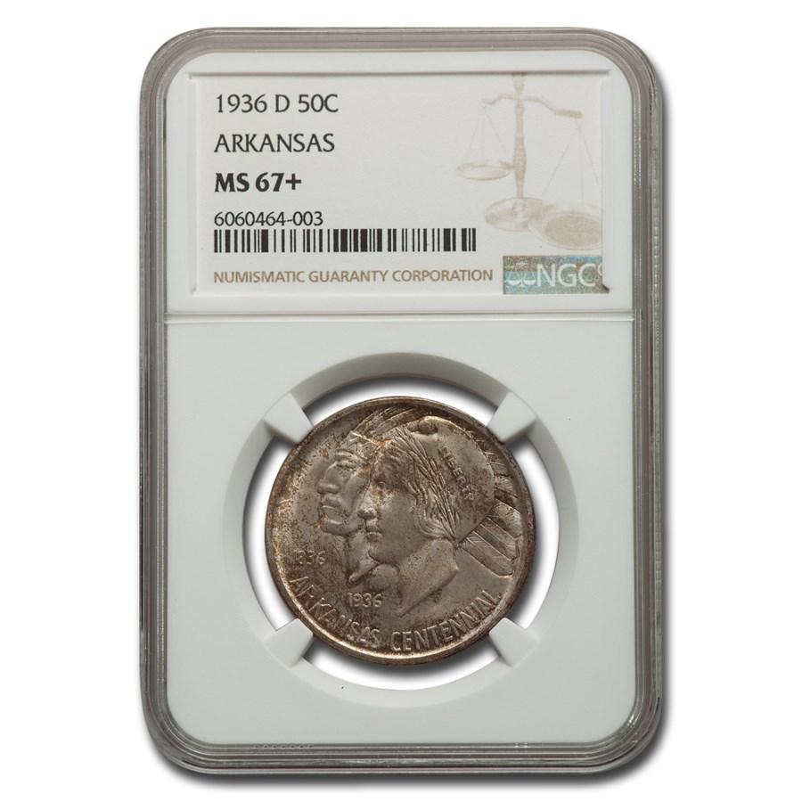 1936-D Arkansas Centennial Commemorative Half Dollar MS-67+ NGC