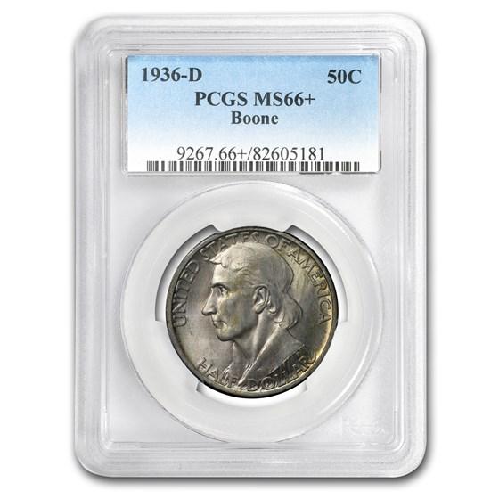 1936-D Boone Half Dollar MS-66+ PCGS