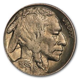 1936-D Buffalo Nickel AU