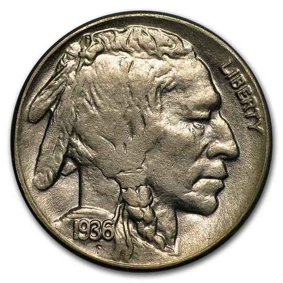 1936-D Buffalo Nickel BU