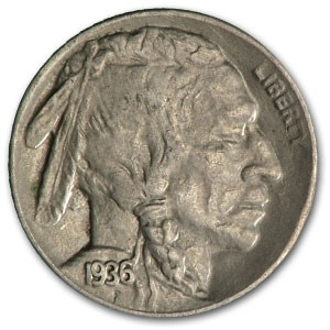 1936-D Buffalo Nickel XF