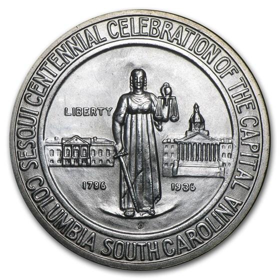 1936-D Columbia Commemorative Half BU