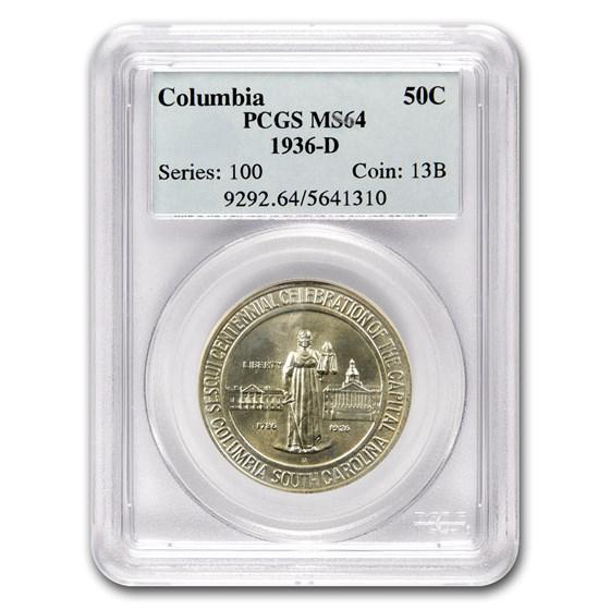 1936-D Columbia, SC Half Dollar MS-64 PCGS