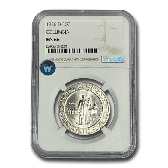 1936-D Columbia, SC Half Dollar MS-66 NGC