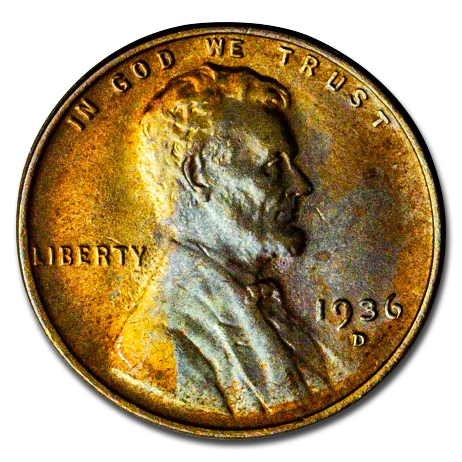 1936-D Lincoln Cent BU (Brown)