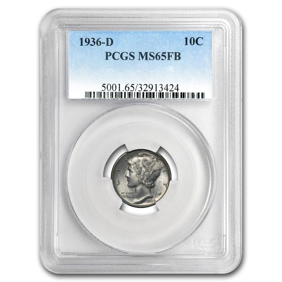 1936-D Mercury Dime MS-65 PCGS (FSB)