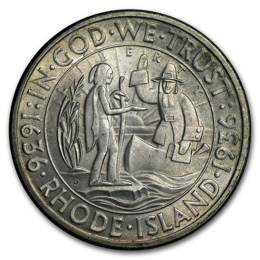 1936-D Rhode Island Half BU