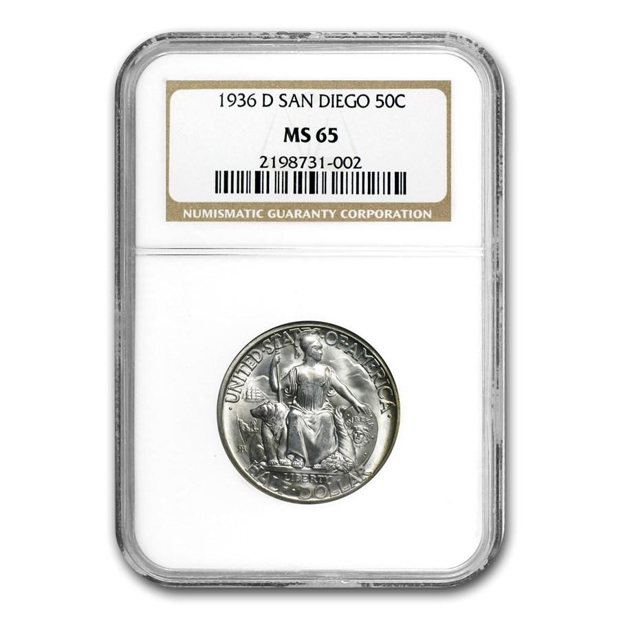 1936-D San Diego Exposition Half Dollar MS-65 NGC