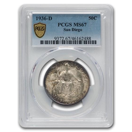 1936-D San Diego Half Dollar MS-67 PCGS