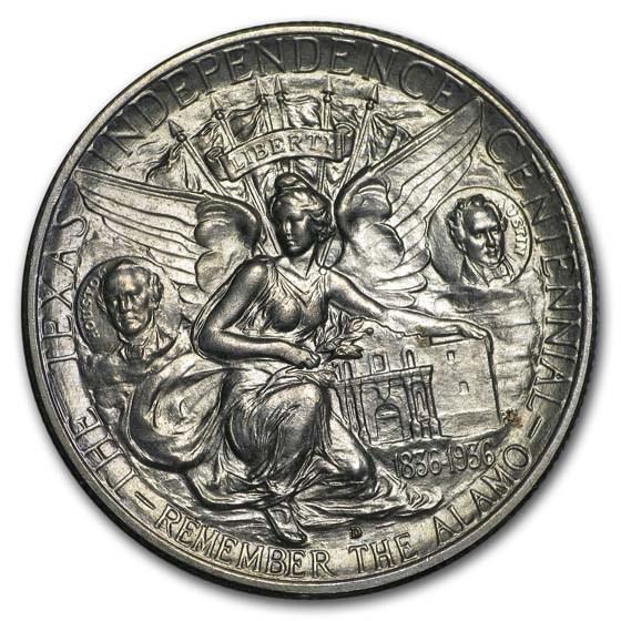 1936-D Texas Independence Centennial Half Dollar BU