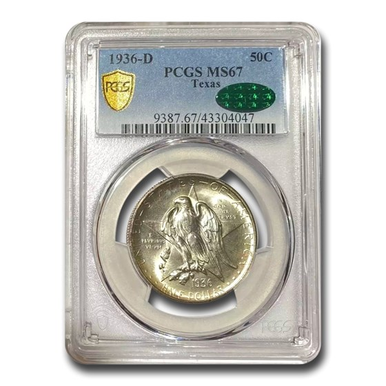 1936-D Texas Independence Centennial Half Dollar MS-67 PCGS CAC