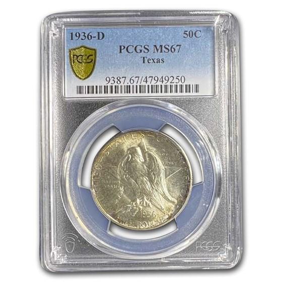 1936-D Texas Independence Centennial Half Dollar MS-67 PCGS