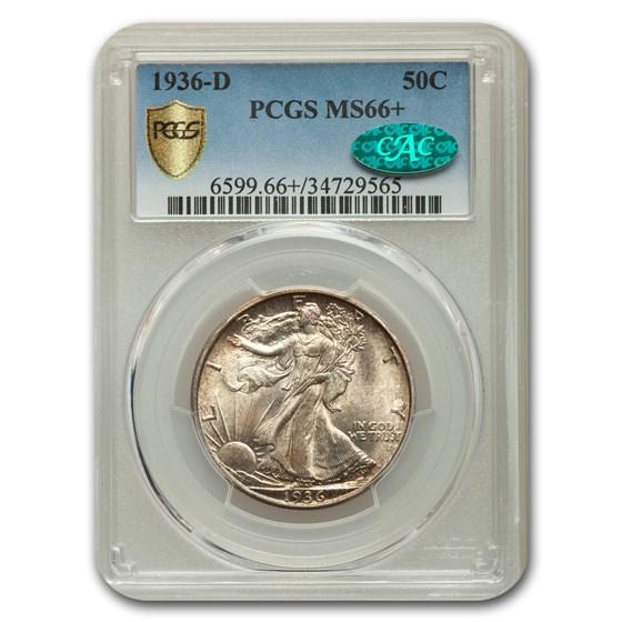 1936-D Walking Liberty Half Dollar MS-66+ PCGS CAC