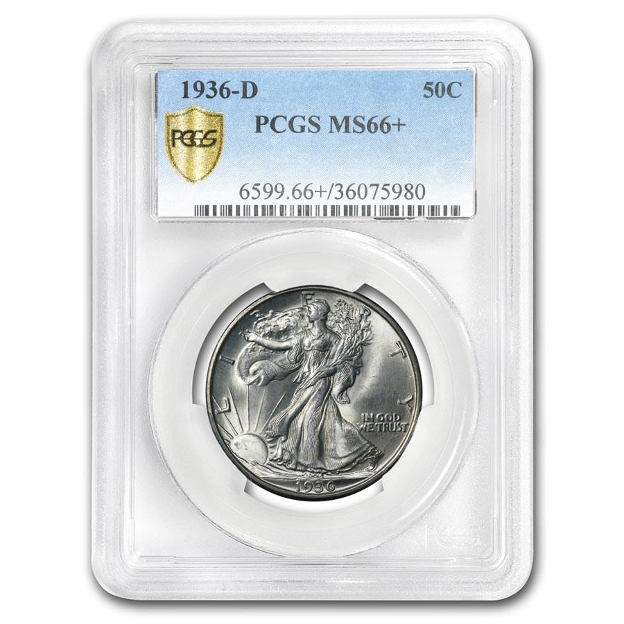 1936-D Walking Liberty Half Dollar MS-66+ PCGS
